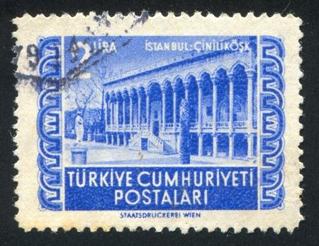 tarsus: TURCHIA - CIRCA 1952: timbro stampato da parte della Turchia, mostra Tarso cataratta, circa 1952
