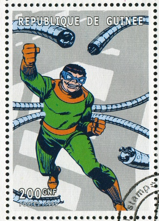 GUINEA - CIRCA 1999: stamp printed by Guinea, shows Doctor Octopus, circa 1999 Stock Photo - 12972438