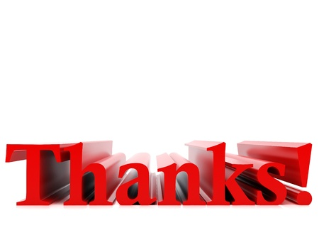 High resolution image. 3d rendered illustration. The word thank you. illustration