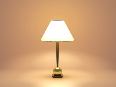 lamplight: High resolution image. 3d rendered illustration. Small lamp. Decorative table lamp isolated.