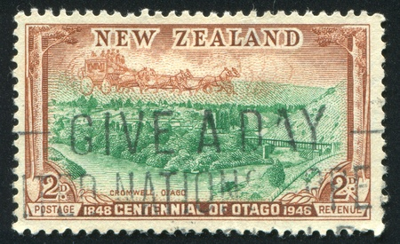 NEW ZEALAND - CIRCA 1948: stamp printed by New Zealand, shows Cromwell, Otago, circa 1948 photo
