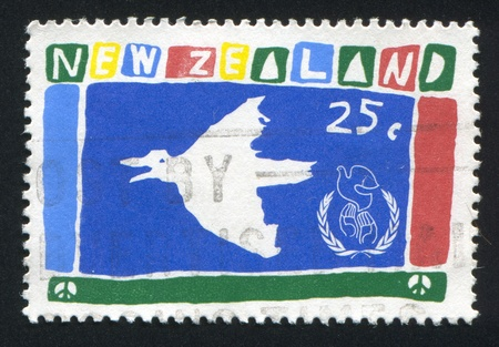 NEW ZEALAND - CIRCA 1986: stamp printed by New Zealand, shows Dove, circa 1986 photo