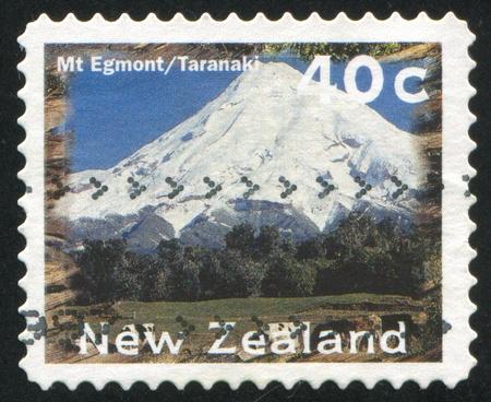 egmont: NEW ZEALAND - CIRCA 1996: stamp printed by New Zealand, shows Scenic Views Type, Mt. Egmont, Taranaki, circa 1996
