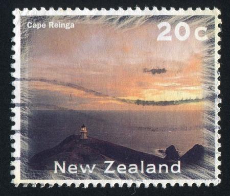 NEW ZEALAND - CIRCA 1996: stamp printed by New Zealand, shows Scenic Views Type, Cape Reinga, circa 1996 photo