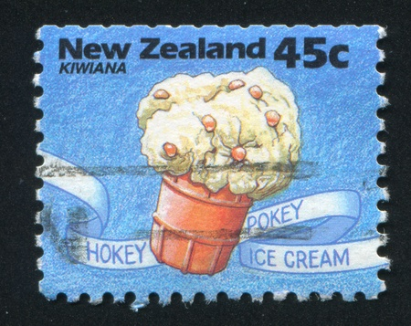 NEW ZEALAND - CIRCA 1994: stamp printed by New Zealand, shows Ice cream Cup, circa 1994 photo