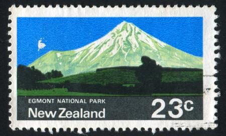 egmont: NEW ZEALAND - CIRCA 1970: stamp printed by New Zealand, shows Egmont National Park, circa 1970