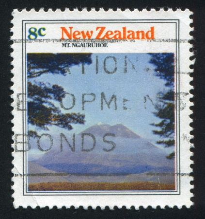 NEW ZEALAND - CIRCA 1973: stamp printed by New Zealand, shows Mountain Ngauruhoe, circa 1973 photo