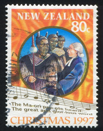 NEW ZEALAND - CIRCA 1997: stamp printed by New Zealand, shows maori song, circa 1997