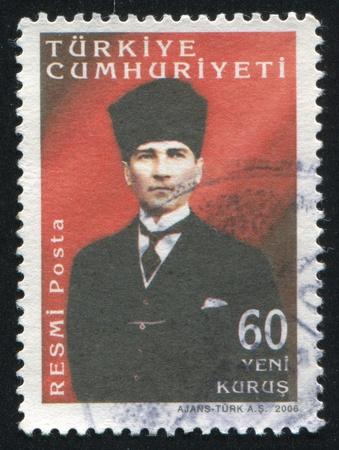 TURKEY- CIRCA 2006: stamp printed by Turkey, shows Kemal Ataturk, circa 2006 Stock Photo - 13095950