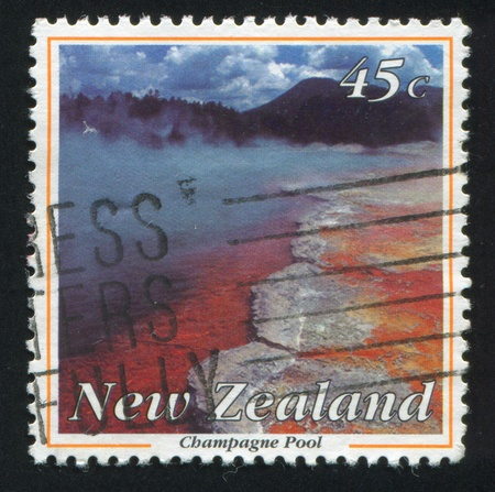 NEW ZEALAND - CIRCA 1993: stamp printed by New Zealand, shows Champagne pool, circa 1993