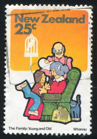 NEW ZEALAND - CIRCA 1981: stamp printed by New Zealand, shows grandparents, circa 1981