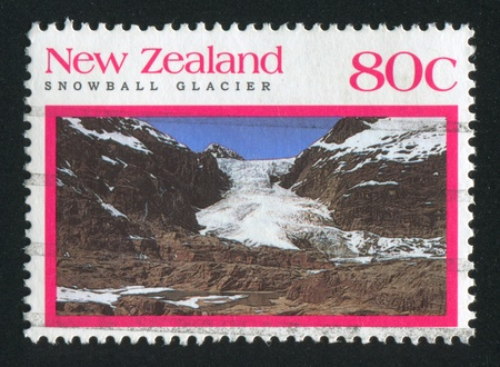 glasier: NEW ZEALAND - CIRCA 1992: stamp printed by New Zealand, shows Snowball glasier, circa 1992