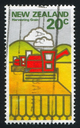 NEW ZEALAND - CIRCA 1978: stamp printed by New Zealand, shows Combine harvester, circa 1978