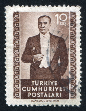 ataturk: TURKEY - CIRCA 1972: stamp printed by Turkey, shows president Kemal Ataturk, circa 1972.