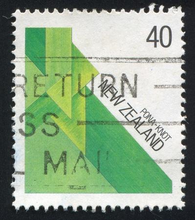 NEW ZEALAND - CIRCA 1987: stamp printed by New Zealand, shows Maori Fiber, circa 1987 photo