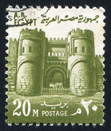 EGYPT - CIRCA 1969: stamp printed by Egypt, shows El Fetouh Gate, Cairo, circa 1969.