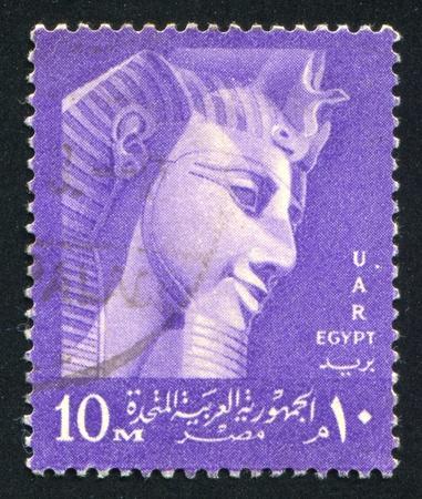 abjad: EGYPT - CIRCA 1957: stamp printed by Egypt, shows Ramses II, circa 1957.