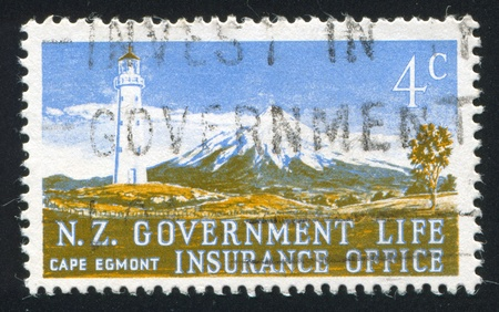 egmont: NEW ZEALAND - CIRCA 1976: stamp printed by New Zealand, shows Cape Egmont, circa 1976