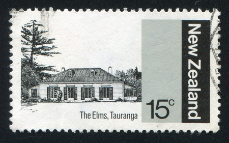 NEW ZEALAND - CIRCA 1979: stamp printed by New Zealand, shows The Elms, Anglican Church Mission, Tauranga, circa 1979