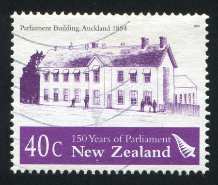 NEW ZEALAND - CIRCA 2004: stamp printed by New Zealand, shows Parliament Building, Auckland, circa 2004