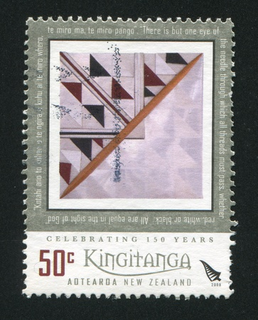 utterance: NEW ZEALAND - CIRCA 2008: stamp printed by New Zealand, shows abstarction, circa 2008 Editorial