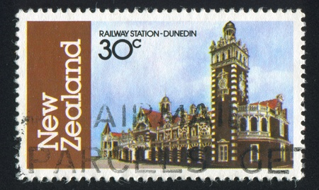 NEW ZEALAND - CIRCA 1982: stamp printed by New Zealand, shows Dunedin Railway Station, circa 1982