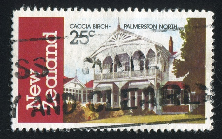 NEW ZEALAND - CIRCA 1982: stamp printed by New Zealand, shows Caccia Birch, Palmerston North, circa 1982