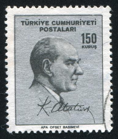 TURKEY - CIRCA 1967: stamp printed by Turkey, shows president Kemal Ataturk, circa 1967.