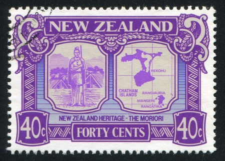 NEW ZEALAND - CIRCA 1989: stamp printed by New Zealand, shows New Zealand Heritage, the Moriori, circa 1989