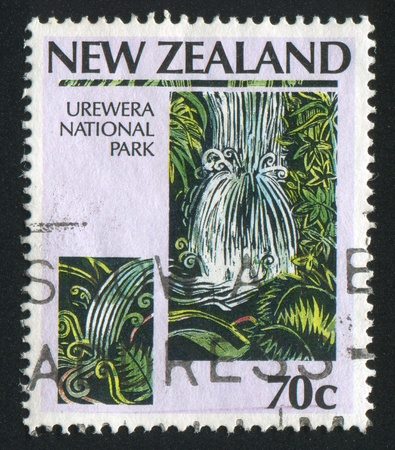 NEW ZEALAND - CIRCA 1987: stamp printed by New Zealand, shows Urewera National Park, circa 1987