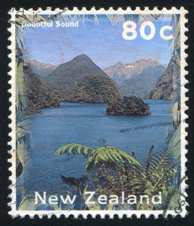 NEW ZEALAND - CIRCA 1996: stamp printed by New Zealand, shows Doubtful Sound, circa 1996