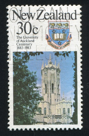 NEW ZEALAND - CIRCA 1983: stamp printed by New Zealand, shows University of Auckland, circa 1983 Stock Photo - 13353692