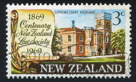 NEW ZEALAND - CIRCA 1969: stamp printed by New Zealand, shows Supreme Court Building in Auckland, circa 1969