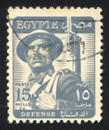 EGYPT - CIRCA 1952: stamp printed by Egypt, shows Farmer, circa 1952. Stock Photo - 13460827