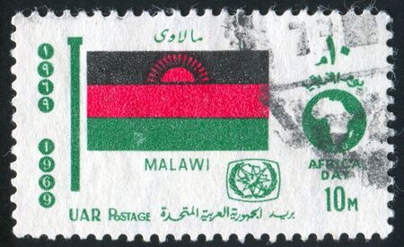 EGYPT - CIRCA 1969: stamp printed by Egypt, shows flag Malawi, circa 1969.
