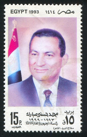 EGYPT - CIRCA 1993: stamp printed by Egypt, shows Mohamed Hosni Mubarak, circa 1993.