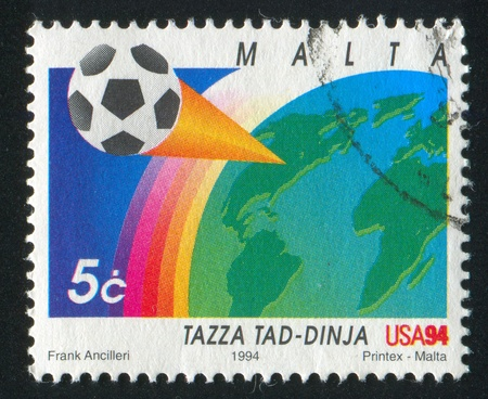 MALTA - CIRCA 1994: stamp printed by Malta, shows Ball, Earth, Rainbow, circa 1994