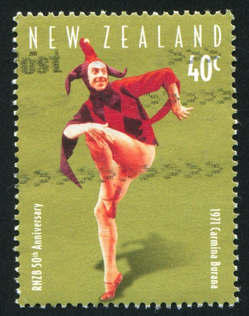 NEW ZEALAND - CIRCA 2003: stamp printed by New Zealand, shows Episode from Carmina Burana, circa 2003 Stock Photo - 13461039