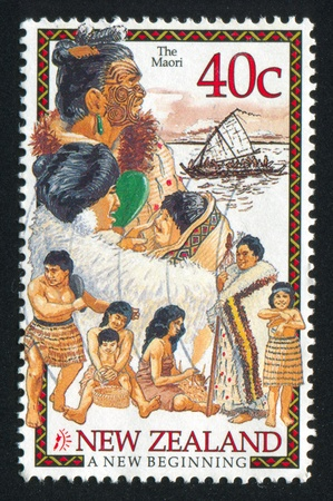 NEW ZEALAND - CIRCA 1998: stamp printed by New Zealand, shows Maori Tribe, circa 1998