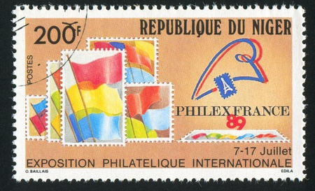 NIGER - CIRCA 1989: stamp printed by Niger shows Simulated Stamps, circa 1989