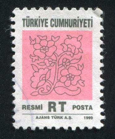 arabic numeral: TURKEY - CIRCA 1999: stamp printed by Turkey, shows turkish pattern, circa 1999. Editorial