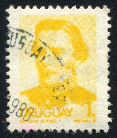 artigas: URUGUAY - CIRCA 1976: stamp printed by Uruguay, shows Jose Gervasio Artigas, circa 1976 Editorial