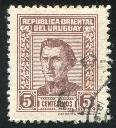 artigas: URUGUAY - CIRCA 1939: stamp printed by Uruguay, shows Jose Gervasio Artigas, circa 1939