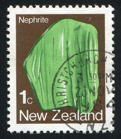 NEW ZEALAND - CIRCA 1982: stamp printed by New Zealand, shows Nephrite, circa 1982 Stock Photo - 13591394