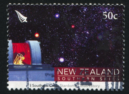 NEW ZEALAND - CIRCA 2007: stamp printed by New Zealand, shows Southern Cross, Stardome Observatory, circa 2007 photo