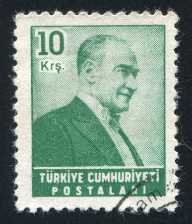 ataturk: TURKEY - CIRCA 1982: stamp printed by Turkey, shows president Kemal Ataturk, circa 1982. Editorial