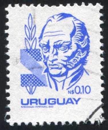 artigas: URUGUAY - CIRCA 1980: stamp printed by Uruguay, shows Jose Gervasio Artigas, circa 1980