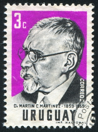 martinez: URUGUAY - CIRCA 1959: stamp printed by Uruguay, shows Martin Martinez, circa 1959