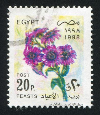 abjad: EGYPT - CIRCA 1998: stamp printed by Egypt, shows Flowers, circa 1998 Stock Photo