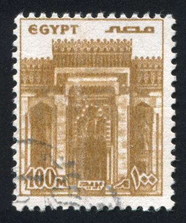 abjad: EGYPT - CIRCA 1978: stamp printed by Egypt, shows Facade, Morsi Mosque, Alexandria, circa 1978 Stock Photo